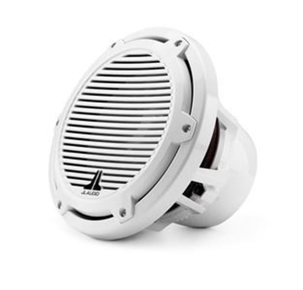 Picture of JL Audio M10W5-CG-WH: 10-inch (250 mm) Marine Subwoofer Driver, White Classic Grille, 4 Ω