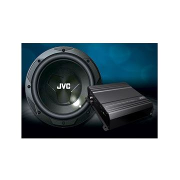 "Picture of JVC CSPK202 12"" DRVN Series Subwoofer/2-Channel DRVN Series Amp Package"