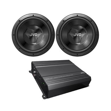 "Picture of JVC CS-PK2120 2 1000W Max 12"" Subwoofer and 500W Max Amplifier Package"