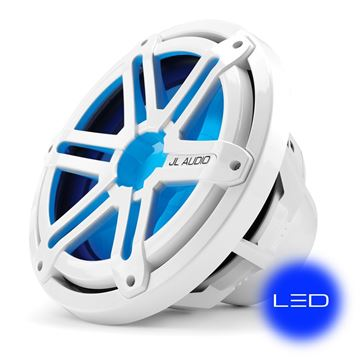 Picture of JL Audio 10-inch Marine Subwoofer Driver, White Sport Grille with Blue LED, 4 Ω