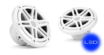 Picture of JL Audio 6.5-inch Cockpit Coaxial System, White Sport Grilles with Blue LED