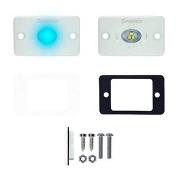 Picture of 1.5 x 3 INCH BLUE FLUSH MOUNT AUXILIARY MARINE ACCENT LIGHTING POD