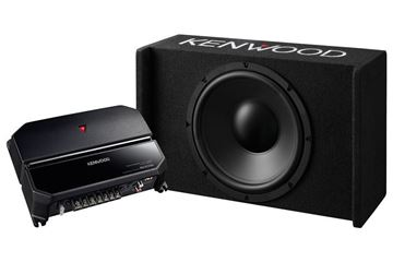 Kenwood Sealed Enclosure Box Subwoofer  + KAC-5207 Package