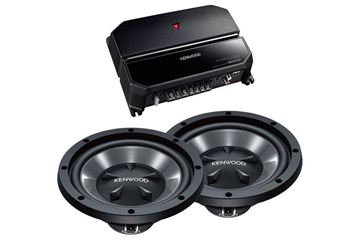 "Kenwood  12"" Bass Party Pack  (KAC-5207 & KFC-W112S x 2)"