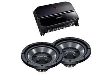 "Kenwood  10"" Bass Party Pack  (KAC-5207 & KFC-W110S x 2)"